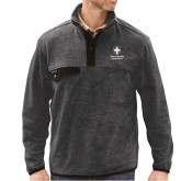 DRI DUCK Denali Charcoal Fleece Pullover-Southern Seminary Vertical