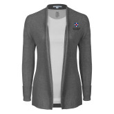 Ladies Heather Grey Open Front Cardigan-Southern Seminary Vertical
