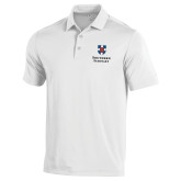 Under Armour White Performance Polo-Southern Seminary Vertical