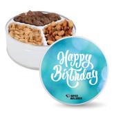 Deluxe Mix Happy Birthday Tin-Boyce Bulldogs w Bulldog Head