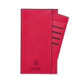 Parker Red RFID Travel Wallet-Boyce Primary Mark Vertical Engraved