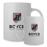 Full Color White Mug 15oz-Boyce Primary Mark Vertical