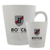 Full Color Latte Mug 12oz-Boyce Primary Mark Vertical