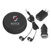 3 in 1 Black Audio Travel Kit-Boyce Primary Mark Vertical