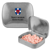 Silver Rectangular Peppermint Tin-Southern Seminary Vertical