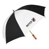 62 Inch Black/White Vented Umbrella-Boyce Primary Mark