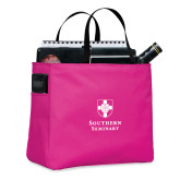 Tropical Pink Essential Tote-Southern Seminary Vertical