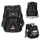High Sierra Swerve Black Compu Backpack-Basketball