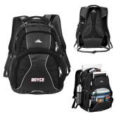 High Sierra Swerve Black Compu Backpack-Boyce