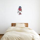 1 ft x 1 ft Fan WallSkinz-Illustrated Football Wolfie