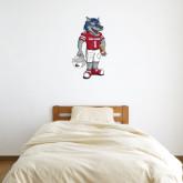 2 ft x 3 ft Fan WallSkinz-Illustrated Football Wolfie