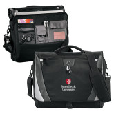 Slope Black/Grey Compu Messenger Bag-University Mark Vertical