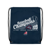 Navy Drawstring Backpack-2019 Baseball Champions