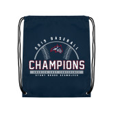 Navy Drawstring Backpack-2019 America East Baseball Champions