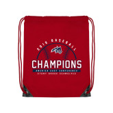 Red Drawstring Backpack-2019 America East Baseball Champions