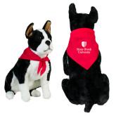 Red Pet Bandana-University Mark Vertical