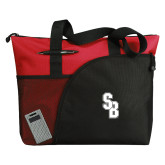 Excel Red Sport Utility Tote-Interlocking SB