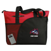 Excel Red Sport Utility Tote-Wolfie Head and Stony Brook