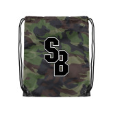 Camo Drawstring Backpack-Interlocking SB