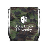 Camo Drawstring Backpack-University Mark Vertical