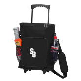 30 Can Black Rolling Cooler Bag-Interlocking SB