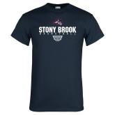 Navy T Shirt-Basketball Sharp Net