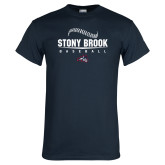 Navy T Shirt-Baseball Seams