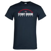 Navy T Shirt-Football Stacked