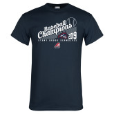 Navy T Shirt-2019 Baseball Champions