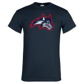 Navy T Shirt-Wolfie Head