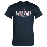 Navy T Shirt-Stacked Distressed