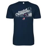 Next Level SoftStyle Navy T Shirt-2019 Baseball Champions
