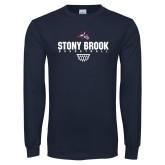 Navy Long Sleeve T Shirt-Basketball Sharp Net