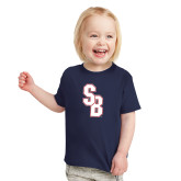 Toddler Navy T Shirt-Interlocking SB