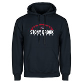 Navy Fleece Hoodie-Football Stacked