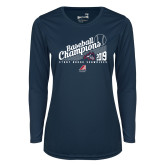 Ladies Syntrel Performance Navy Longsleeve Shirt-2019 Baseball Champions