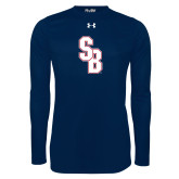 Under Armour Navy Long Sleeve Tech Tee-Interlocking SB