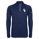 Under Armour Navy Tech 1/4 Zip Performance Shirt-Interlocking SB