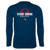 Performance Navy Longsleeve Shirt-Soccer Stacked