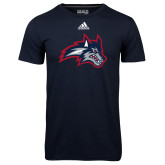 Adidas Climalite Navy Ultimate Performance Tee-Wolfie Head