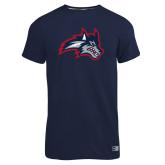 Russell Navy Essential T Shirt-Wolfie Head
