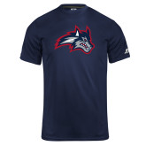 Russell Core Performance Navy Tee-Wolfie Head