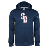 Under Armour Navy Performance Sweats Team Hoodie-Interlocking SB