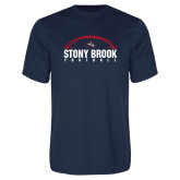 Performance Navy Tee-Football Stacked