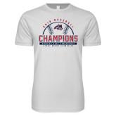 Next Level SoftStyle White T Shirt-2019 America East Baseball Champions