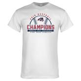 White T Shirt-2019 America East Baseball Champions