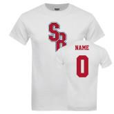 White T Shirt-Interlocking SB, Custom Tee w/ Name and #