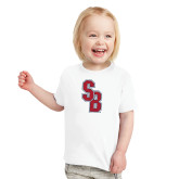 Toddler White T Shirt-Interlocking SB