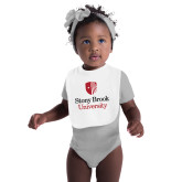 White Baby Bib-University Mark Vertical