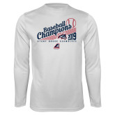 Performance White Longsleeve Shirt-2019 Baseball Champions